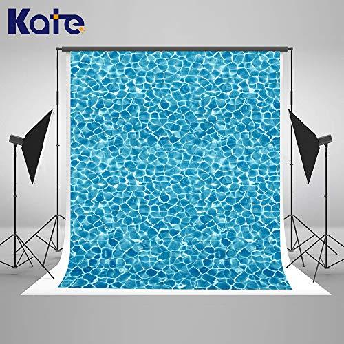 Kate Hellblau Foto Hintergrund 5x7ft / 1.5x2.2m Abstrakte Wasser Kräuselungs Hintergrund Geometrisches Muster Sommer Swimming Pool Microfaser Photo Booth Hintergrund