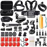 Kit accessorio per Action Camera, Luscreal 41-in-1 Pacchetto accessori per GoPro Hero 5 Black Session 5 4 3 + 3 2 1 AKASO EK7000 Xiaomi Yi Apeman A70 DBPOWER APEMAN WiMiUS Sony sports DV con custodia