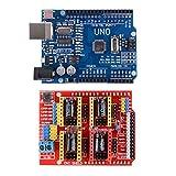 XCSOURCE® 3D Drucker Kit mit CNC Schild V3.0 + UNO R3 Board + 4stk A4988 Schrittmotor Treiber mit Kühler für Arduino TE623