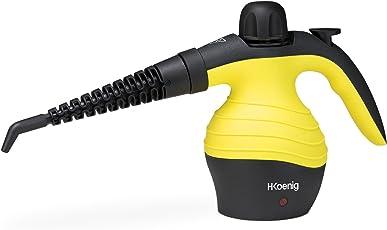 H.Koenig NV60 Pulitore, pistola a vapore, 4.2 bars, capacità 250ml, 1000W, Nero/Giallo