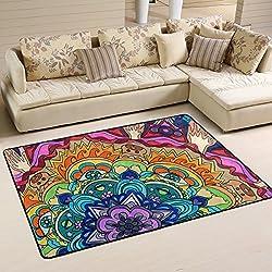 Alfombra de mandalas de colores (36 x 24 inch)