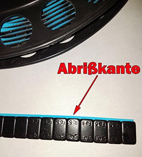 SW-Trade Germany 1200 KLEBEGEWICHTE auf Rolle Schwarz Auswuchtgewichte 6Kg mit Abrißkante Kleberolle Kunststoffbeschichtet