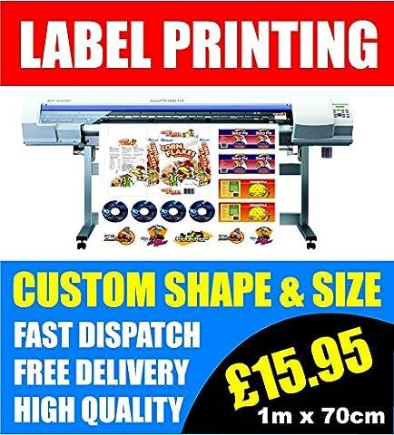 Custom label printing 100CM X 70CM