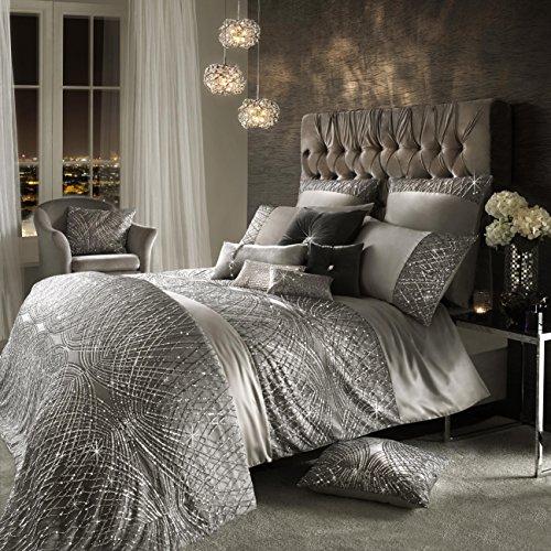 Kylie Minogue esta argento lusso lenzuola e accessori, New SS17Range, copripiumino matrimoniale