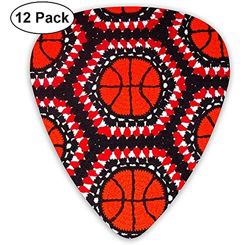 Klassische Plektren Basketball Pattern Plektren Instrument Standard Bass 12er Pack