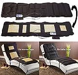 newgen medicals Massagematten: Doppelseitige Ganzkörper-Vibrations-Massageauflage, 6 Programme (Massageliege)