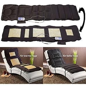 newgen medicals Massageliege: Doppelseitige Ganzkörper-Vibrations-Massageauflage, 6 Programme (Massagematten)