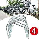 Proline Fahrradständer Bodenparker Fahrradparker Sicherer Ständer für 4 Fahrräder Geeignet für die Keller Scheunen Carport Garage