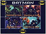 Marvel Heroes Batman comic stamp sheet for collectors with 4 stamps issued 2014 / Republic Benin / MNH