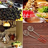 Rice Steel Strainer Colander with Handle for Kitchen Food Stainless Vegetable