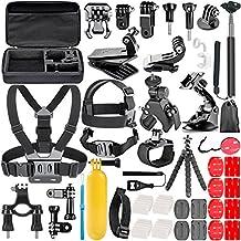 Neewer 10084962 - Kit de accesorios 58-in-1 para GoPro Hero 4/5 sesión hero 1/2/3/3Plus/4/5, SJ4000/5000, cámara y accesorios, color negro