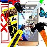 *** INCASSABLE X2 *** 2 FILM PROTECTION Ecran en VERRE Trempé pour SAMSUNG GALAXY J5 2016 filtre protecteur d'écran INVISIBLE & INRAYABLE vitre pour Smartphone J 5 6 SM-J510FN J5 6 or duos 4G