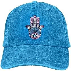 PLOCL dicer Funny Caps Buddha Hamsa Baseball Caps Kawaii Available Visor Hats for Teen Girls