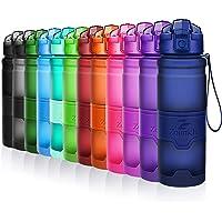 ZOUNICH Sport Trinkflasche BPA frei Auslaufsicher Wasserflasche 380ml/500ml/700ml/1L Kunststoff Geeignet Sporttrinkflaschen für Joggen,Fahrrad,Kinder Schule,öffnen mit Einer Hand Trinkflaschen Filter