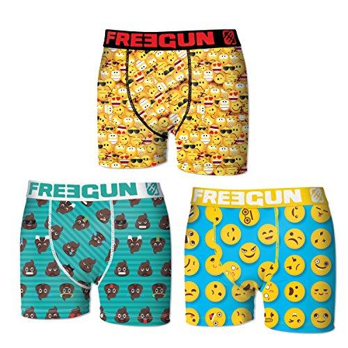 Freegun. Herren Boxershort Pack de 3 asst 2