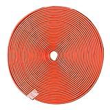 Protecteur de bord de jante de moyeu de roue de voiture, protecteur de bord durable de bord de voiture de 8M Autocollant de garde de pneu puissant Adhésif pratique de bande de caoutchouc pour toute la voiture (Red)