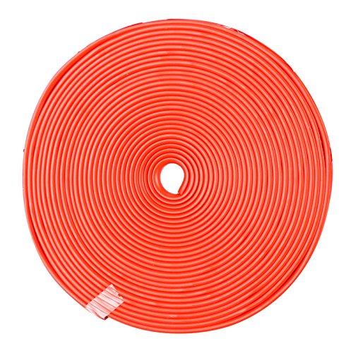 Auto-Radnaben-Kanten-Kantenschutz, 8M Dauerhaften Auto-Kanten-Kantenschutz Leistungsstarker Reifen-Schutz-Aufkleber Praktischer Gummi-Streifen Fit für alle Autos (Red) Rim Protector