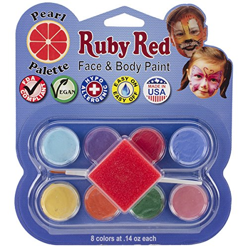 Ruby Red Face Paint Kit-Pearl - Butterfly Facepaints