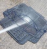 Xtremeauto® Universal Full Rubber 4 Piece Heavy Duty Non-Slip Car Floor Well Mat