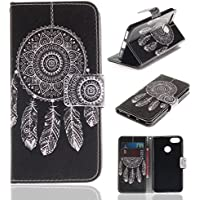 Lomogo Huawei Y6 Pro 2017 Leather Wallet Case with Kickstand Credit Card Holder Magnetic Closure Shockproof Flip Case Cover for Huawei Y6 Pro 2017 - LOTXI27727 #3