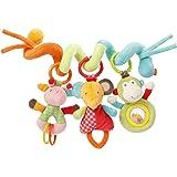 Fehn, spirale per attività/Spirale di tessuto per la presa e per il tatto, da applicare sul letto, passeggino, Box/per neonat