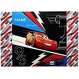 alles-meine GmbH große XL - Schreibtischunterlage / Unterlage -  Disney Cars / Lightning McQueen - Auto  - inkl. Name - 60 cm * 40 cm - abwischbar - Tischunterlage / Knetun..