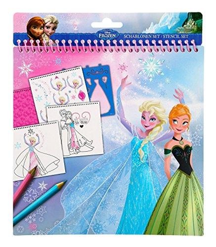 Undercover FRQA1210 - Schablonen Set Disney Frozen, 32-teilig (Schablone Disney)