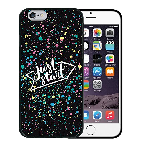 iPhone 6 6S Hülle, WoowCase Handyhülle Silikon für [ iPhone 6 6S ] Mondrian Stil Rechtecke Handytasche Handy Cover Case Schutzhülle Flexible TPU - Transparent Housse Gel iPhone 6 6S Schwarze D0357