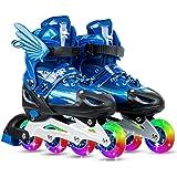 Lixada Verstelbare inline skates met lichtgevende wielen voor kinderen en volwassenen, indoor outdoor fitness inline skates v