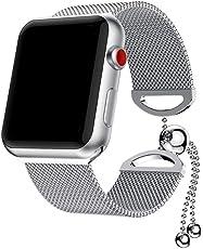 BZLine® Luxus Milanaise Ersatz Armband für Apple Watch/iWatch Serie 3/2/1, Edelstahl Wrist Strap Band Uhrenarmband Schlaufe Smart Watch Armbänder für Männer und Frauen