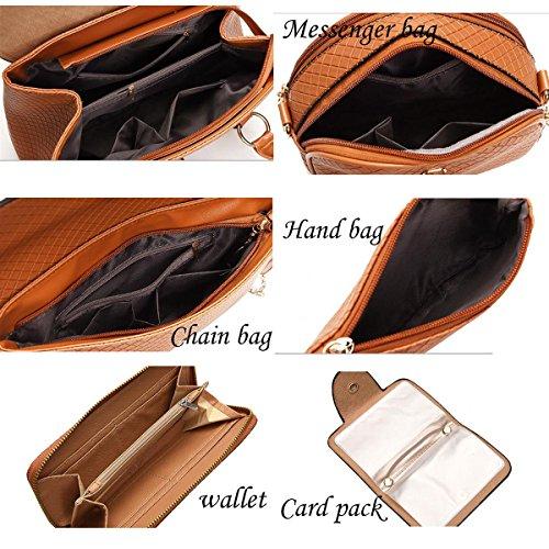 Frauen Handtasche Europa Und US Wind Lock Lingge PU Umhängetasche Geldbörse Diagonal Taschen Grey