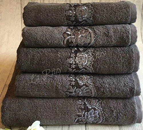 Ägyptische Baumwolle 5 Stück Handtücher Set (Grau)