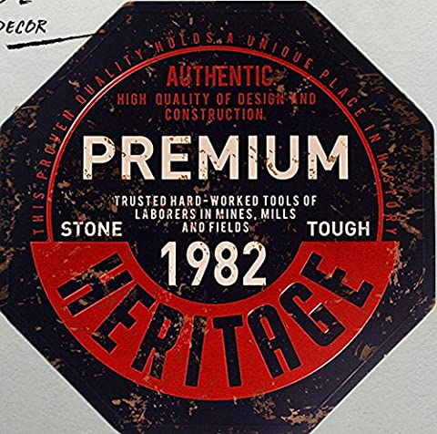 Küche Wand Dekor Premium Heritage 1982 Metall Tin Sign Wall Sticker Home Decor für Party Dekoration