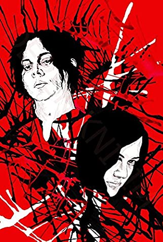 The White Stripes (24x36 inch, 60x90 cm) Silk Poster Affiche en Soie PJ12-6133