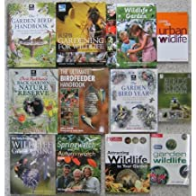 WILDLIFE IN THE GARDEN - an excellent collection of twelve titles : Birdfeeder Handbook, Back Garden Nature Reserve, Garden Birds, Springwatch, Living With Wildlife etc.
