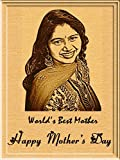 Incredible Gifts India Mother's Day Gift - Engraved Wooden Photo Plaque (5 X 4 Inches)