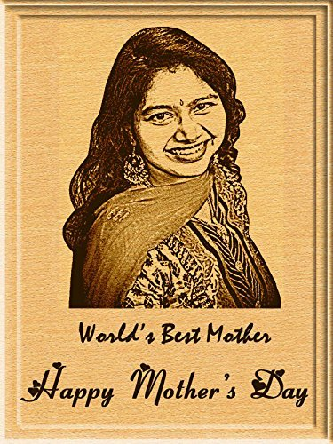 Incredible Mother's Day Gift - Engraved Wooden Photo Plaque (5 x 4)