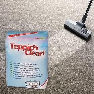 2 Kg Teppich Reinigungspulver Teppichpulver Raumrein passend für Lux Vorwerk Siemens Bosch Miele und andere Staubsauger