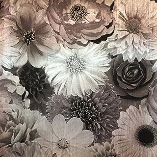 Arthouse Foil in Bloom Mono Luxury Textured Vinyl Wallpaper Metallic 294001