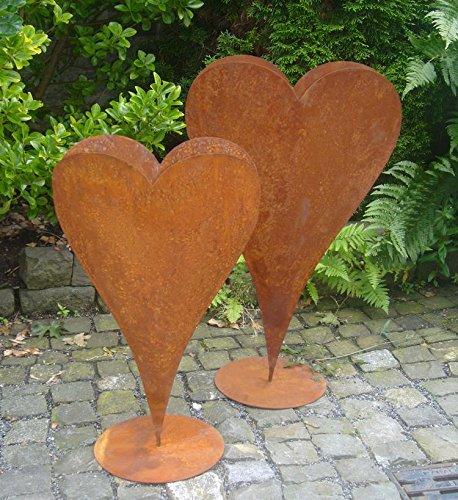 floristikvergleich.de Herz 60 cm aus Metall, bepflanzbar in Edelrost Optik, Deko für Garten und Wohnung Valentinstag