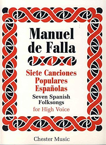 FALLA - Canciones Populares Españolas (Voz Aguda) para Canto y Piano (Milliet)