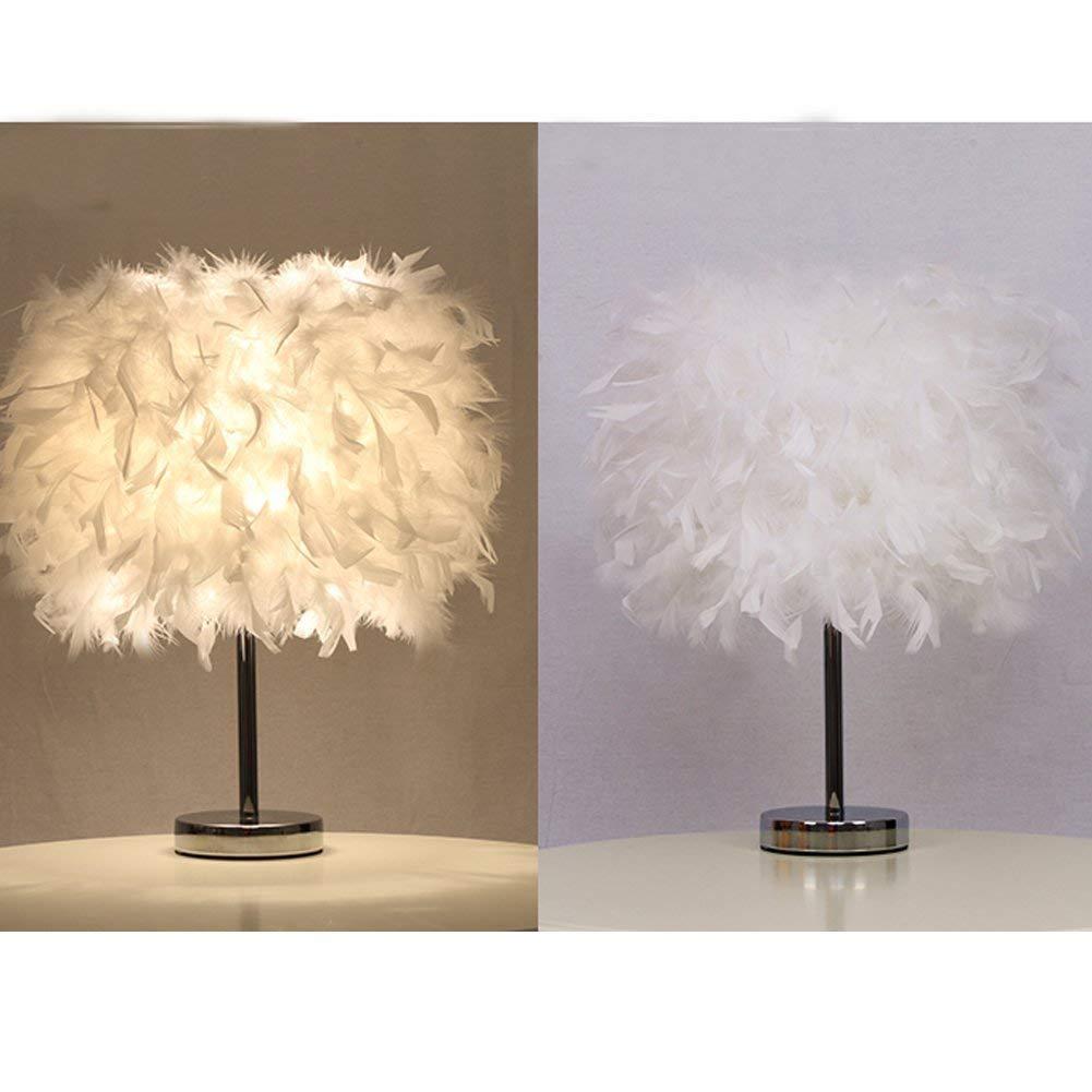 Lot De 2 Luminaire Plume Lampe De Chevet Chambre Vintage Chambre