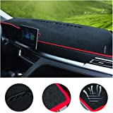 غطاء لوحة لوحة لوحة القيادة المخصصة لسيارة Toyota Camry 2006-2011، 2012-2017 2018 غطاء لوحة لوحة لوحة القيادة الآلية (خط أحمر