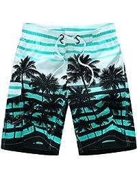 Ushero Bañadores de Natación Hombre Pantalones Cortos de Nadar Traje de Baño Secado Rápido con Cintura Elástica para Vacaciones…