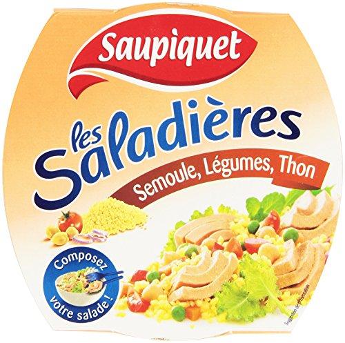 Saupiquet Les Saladiers Semoule, Thon et Légumes La Boîte 160 g - Lot de 6