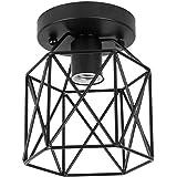 ZHMA Semi-Flush Mount lampa sufitowa, w stylu industrialnym, klosz, wytarty olej, wykończenie brązu, do korytarza, studia, po