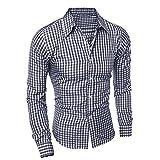 Ularma Camisa de los hombres, Guinga impresión de manga larga ...