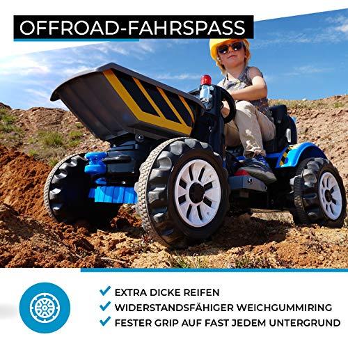 RC Auto kaufen Kinderauto Bild 3: Actionbikes Motors Kinder Radlader JS328C 2 x 25 Watt Motor Elektro Lader Kinderauto Kinderfahrzeug Spielzeug für Kinder Kinderspielzeug (Grün)*