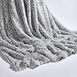 Highliving ® Luxury Faux Fur Super Soft Wolf Blanket Throw Warm Thick Sofa Bed 150 x 200cm (Silver)