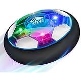 Baztoy Pallone Calcio Fluttuante, Giocattoli Bambini Palla Ricaricabile da Casa con Luci LED Hover Soccer Ball Interno Comple